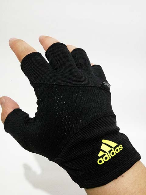 Sarung Tangan Training Adidas ESS Glove Men Black Green ...