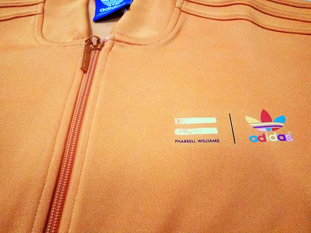Jaket Adidas Originali Mono Colore Pharrell Williams Track Top Dei X